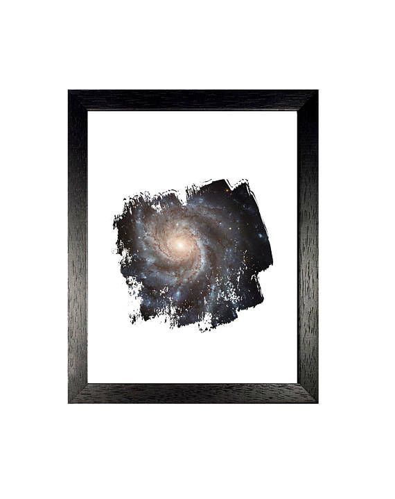 Pinwheel Galaxy Print, Universe Art, Astronomy Wall Decor, Space Instant Download