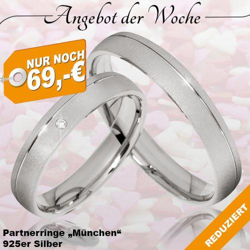 🔥 ANGEBOT DER WOCHE 🔥 ▫ Jetzt nur noch 79,-€ (Paarpreis) ▫ #Partnerringe #München aus 925er #Silber  ▫ inkl. Gravur ▫ inkl. Ring-Etui ▫ inkl. Versand ▫ Gültig bis zum 17.10.16