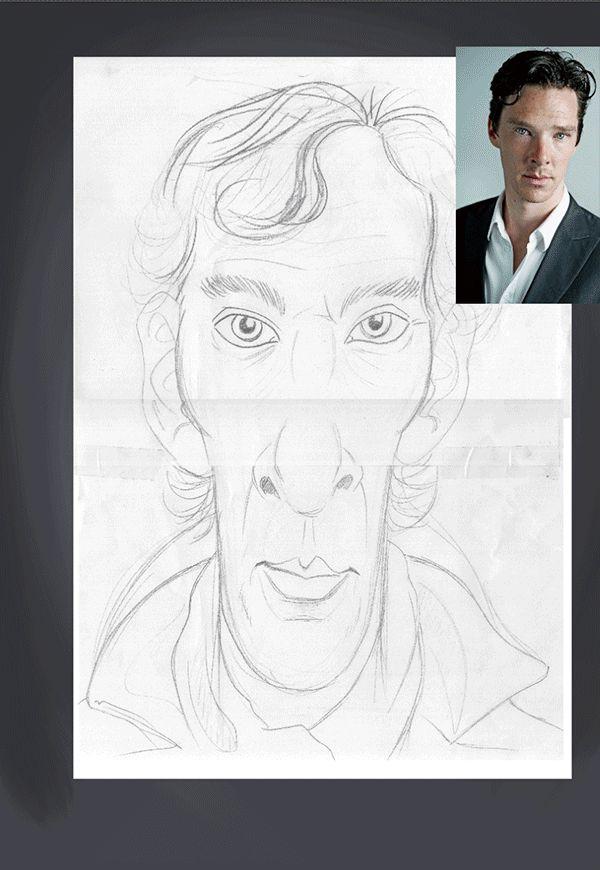 Benedict Cumberbatch art | decor | wall art | inspiration | caricatures | home decor | idea | humor | gifts
