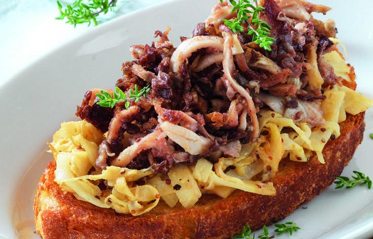 Ricetta Crostone con lampredotto e sedano rapa - Le ricette de La Cucina Italiana