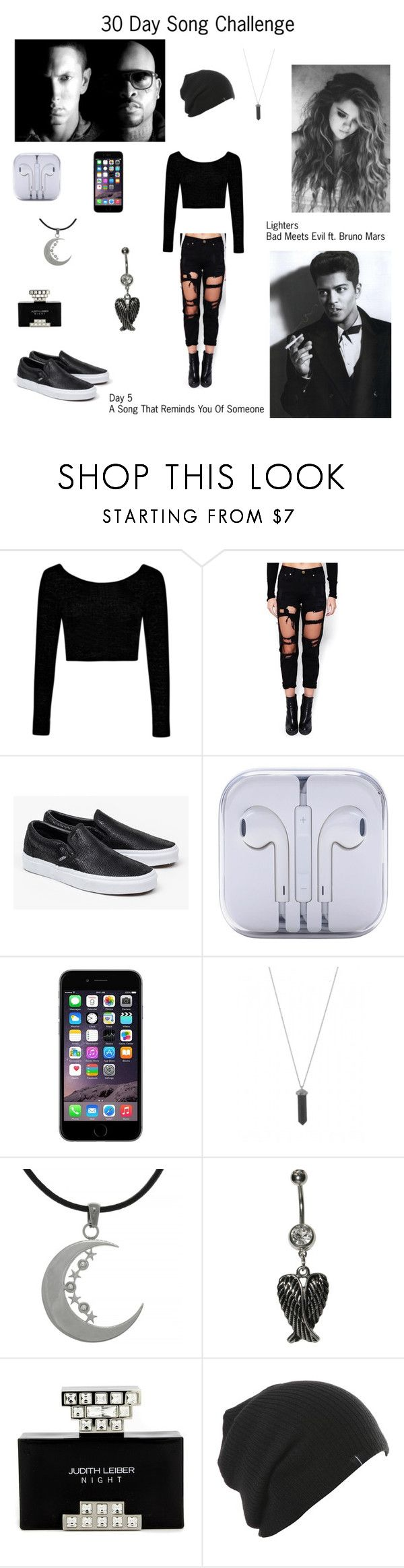 """""""Lighters by Bad Meets Evil ft. Bruno Mars - Day 5"""" by foreverslytherin ❤ liked on Polyvore featuring Rhythm., Boohoo, Vans, Karen Kane, Carolina Glamour Collection and Judith Leiber"""