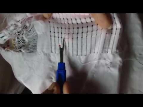Deshilado de flor #4 - YouTube