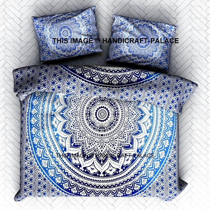 Ombre Mandala KING Duvet Cover. This is a Reversible Duvet Cover ,You Can Use From Both Side. Indian Art for hippie bohemian decor. Traditional Print. #Mandala #India #express free Shipping #Bohemian #hippie #gypsy #soul #love #life #home #room #decor #decorative #traditional #bedding #set #pillow #slip #sham #case #cover #handicraftpalace