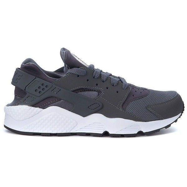 Air Huarache Grey Sneaker ($145) ❤ liked on Polyvore featuring men's fashion, men's shoes, men's sneakers, menshoessneakers, multicolor, colorful mens shoes, nike mens sneakers, mens grey sneakers, mens leather sneakers and mens gray shoes