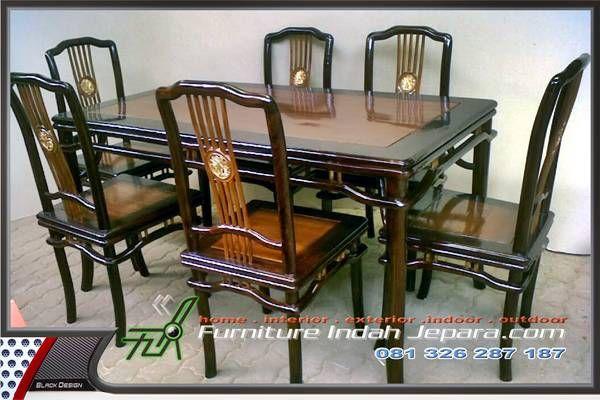 kursi makan taichi dengan konsep desain klasik cina merupakan produk terbaru Furniture Indah Jepara dengan harga murah kami sajikan dengan kualitas bagus.