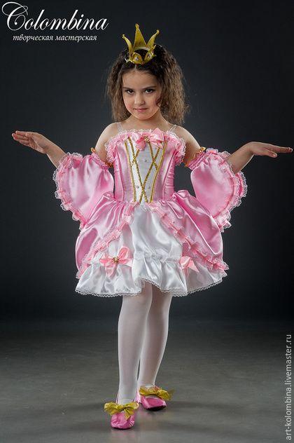 Детские карнавальные костюмы ручной работы. Ярмарка Мастеров - ручная работа. Купить карнавальный костюм принцессы. Handmade. Розовый, принцесса