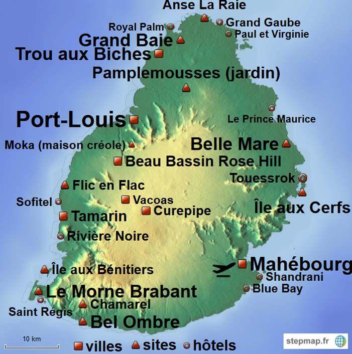 Maurice Ile Carte De L Ile Maurice Mauritius Maps In 2019