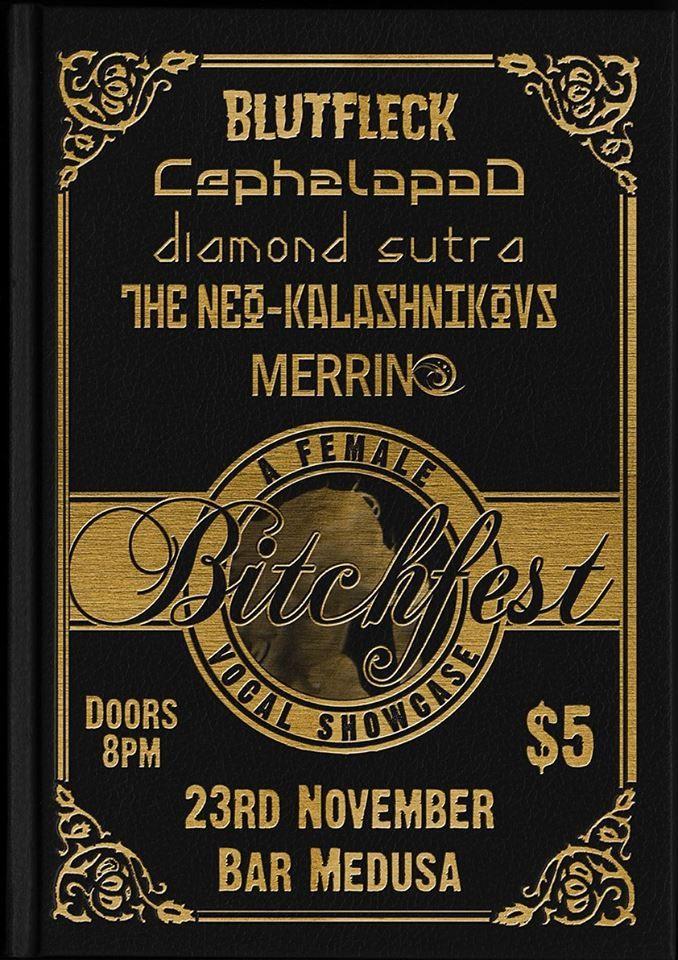 The awesome Bitchfest gig at Medusa #Rock #Wellington