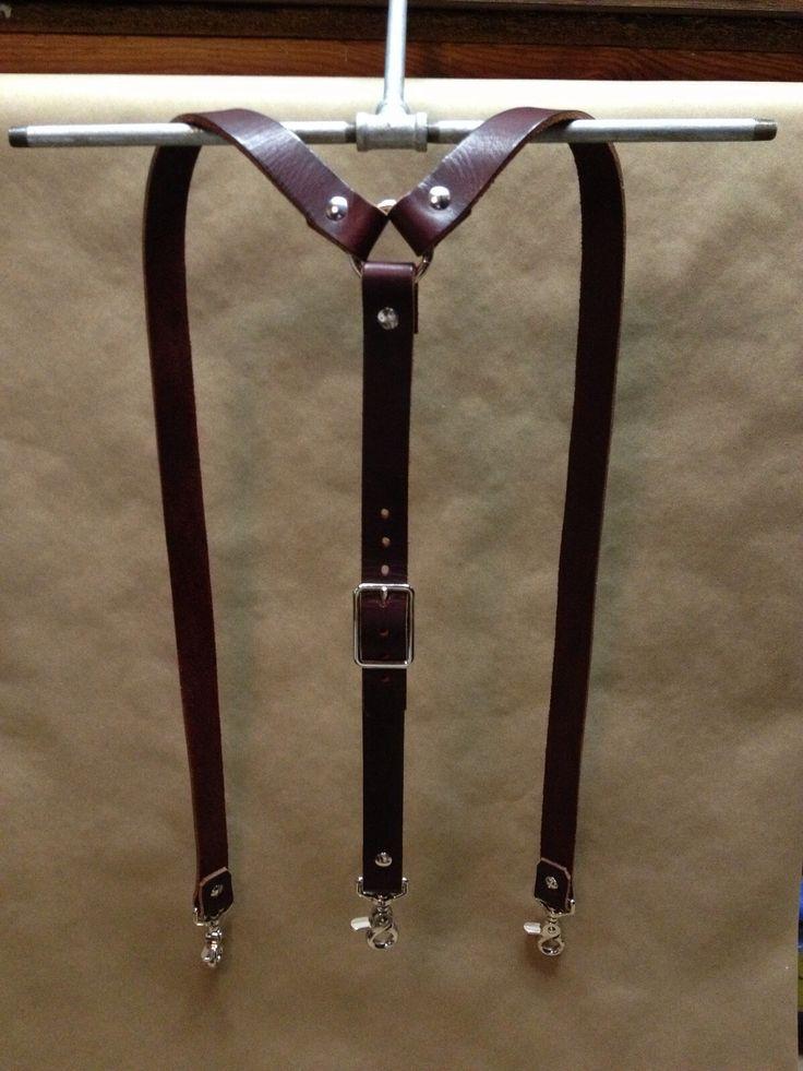 Wide Leather Suspenders | 440 Gentleman Supply