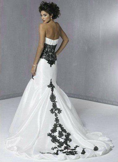 Abiti da sposa in bianco e nero