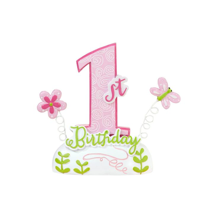 Baby's First Birthday Cake Topper-Pink, Pink