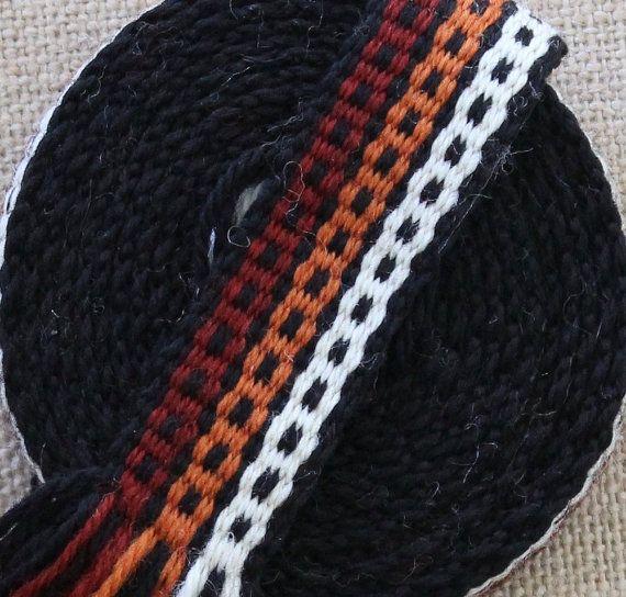 Inkle Weaving, Medieval Trim, Inkle Woven, Hand Woven Trim, Narrow Trim, Woven Ribbon, Inkle Band, Inkle Woven Trim, Woven Decorative Trim