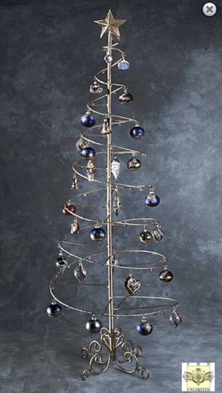 Spiral Ornament Tree A Perfect Way To Display Your Collection Of Fine Ornaments Measures 6 Feet Tal Metal Ornament Tree Ornament Tree Display Wire Ornaments