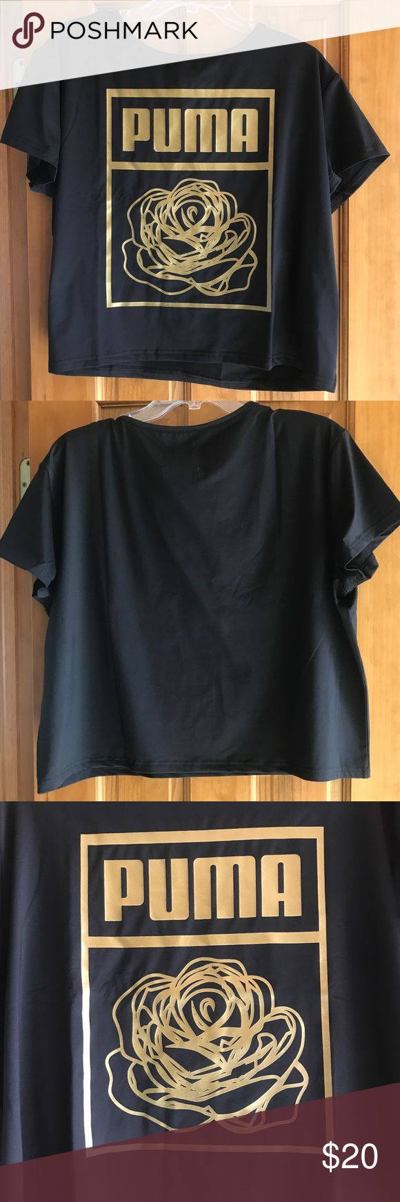 Puma Shirt This is more of a cropped shirt. Size large. Puma Tops Tees - Short Sleeve