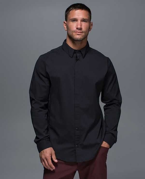 Mission LS Button Down size S (1sh choice black or white)