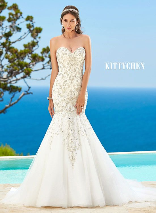 8 best Kitty Chen Bridal Gowns images on Pinterest | Short wedding ...