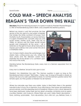 Cold War - Reagan's 'Tear Down This Wall!' - Speech Analys