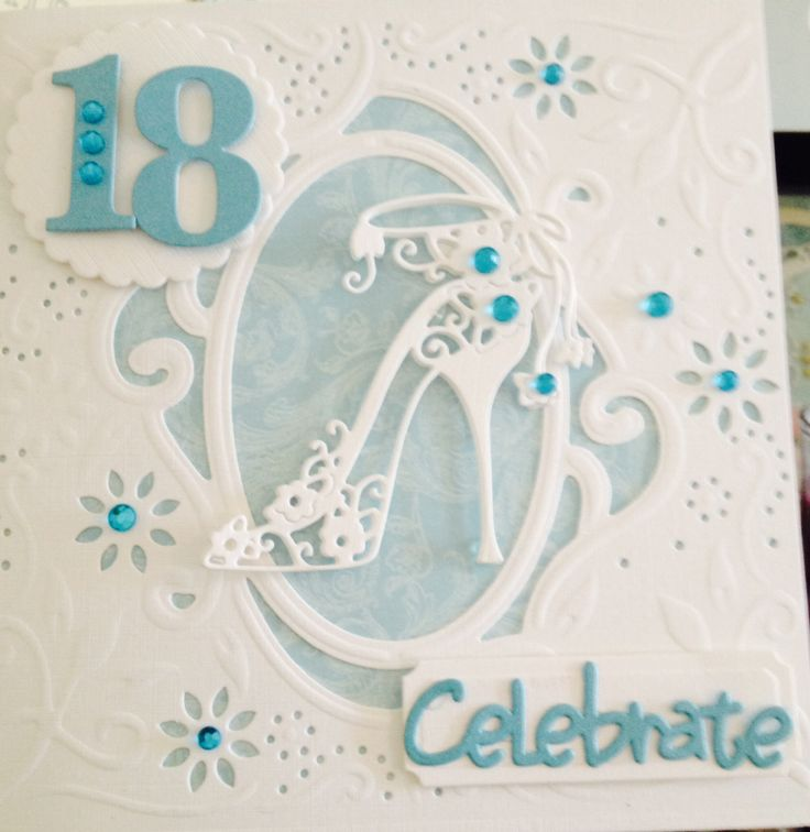 Diesire create a card. Tattered lace shoe die.