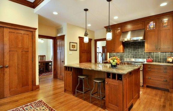 Paint Colors For Honey Oak Trim Mission Style Kitchen