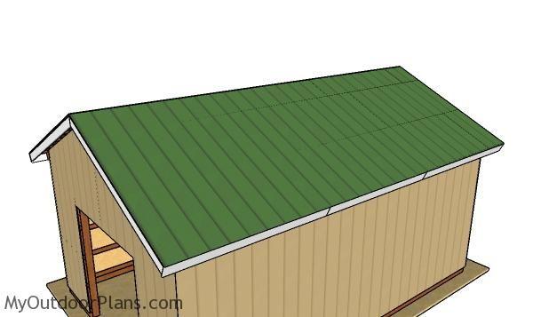16 24 Pole Barn Roof Plans Barn Roof Pole Barn Plans Roof Plan