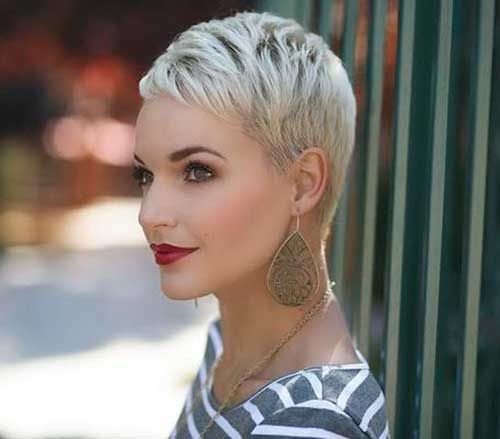 Best Platinum Blonde Pixie Short Hair