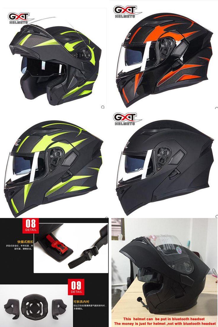 [Visit to Buy] GXT flip up motorcycle helmet double lense full face helmet Casco Racing Capacete with inner sun visor can put bluetooth headset #Advertisement