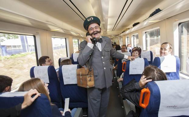 El tren ha partido hoy a las once y volverá a hacerlo este domingo, también a las once de la mañana, destino Rioja Alta