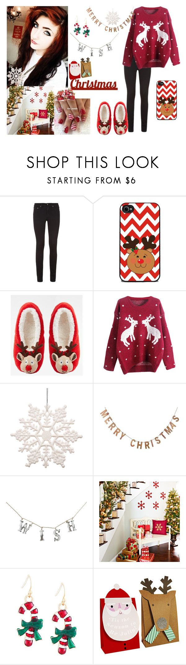 """""""Merry Christmas to everyone! -read the description-"""" by merri-broskef6969 ❤ liked on Polyvore featuring rag & bone, ASOS, Threshold, Dot & Bo and Sixtrees"""