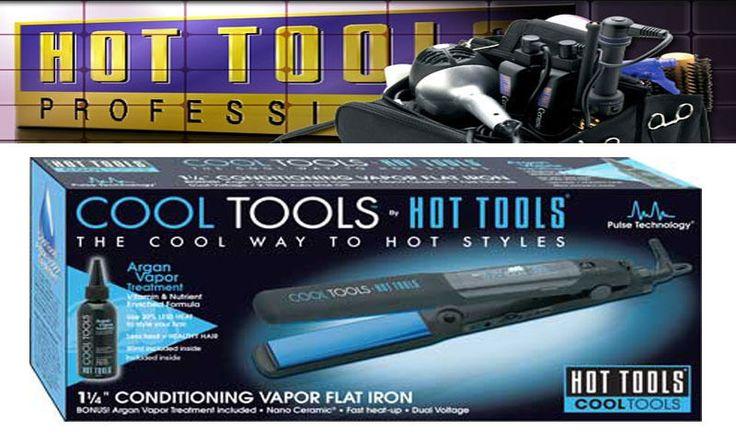 NEW COOL TOOLS 1 1/4 Vapor Hair FLAT IRON Ceramic Dual Voltage HT7101