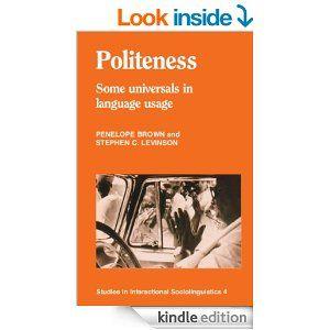 Politeness Studies In Interactional Sociolinguistics 4