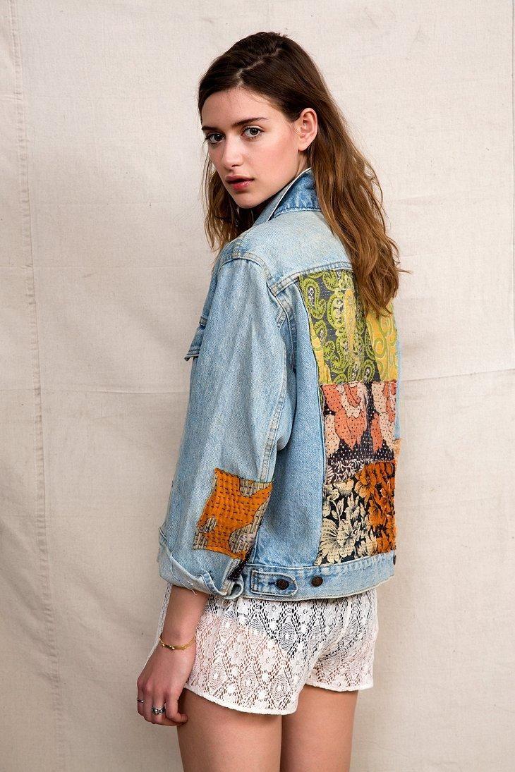 HYM Salvage X Urban Renewal Kantha Quilt Denim Jacket #urbanoutfitters