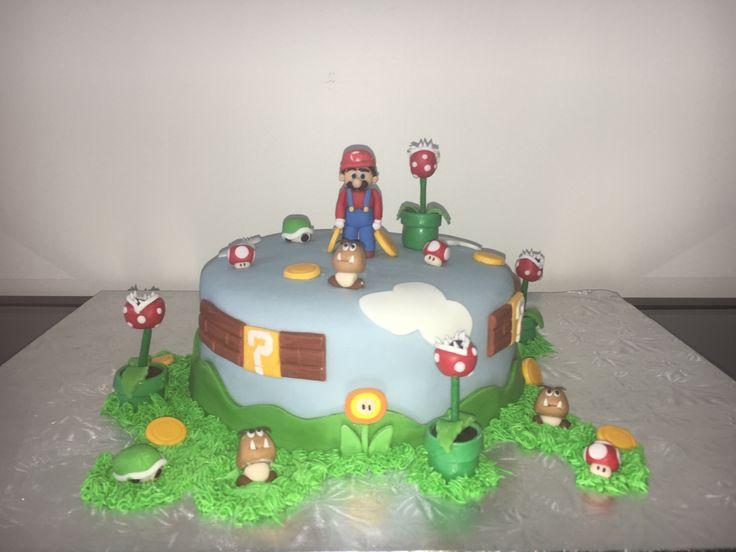 Fondant Mario Bros. Cake