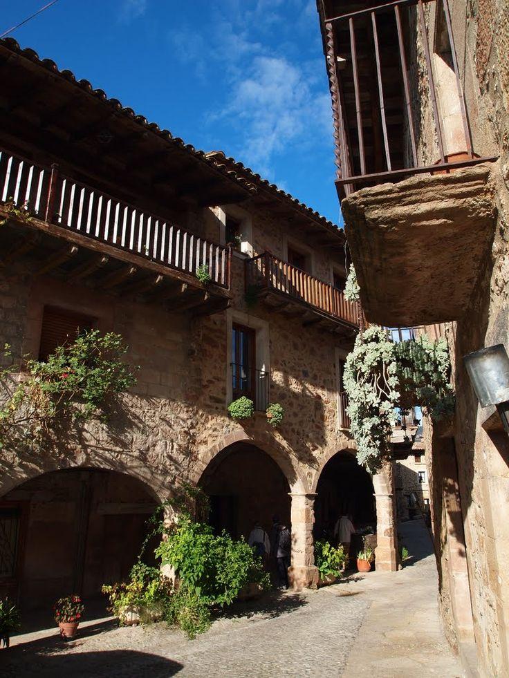 Santa Pau. Arquitectura tradicional.  Girona   Catalonia