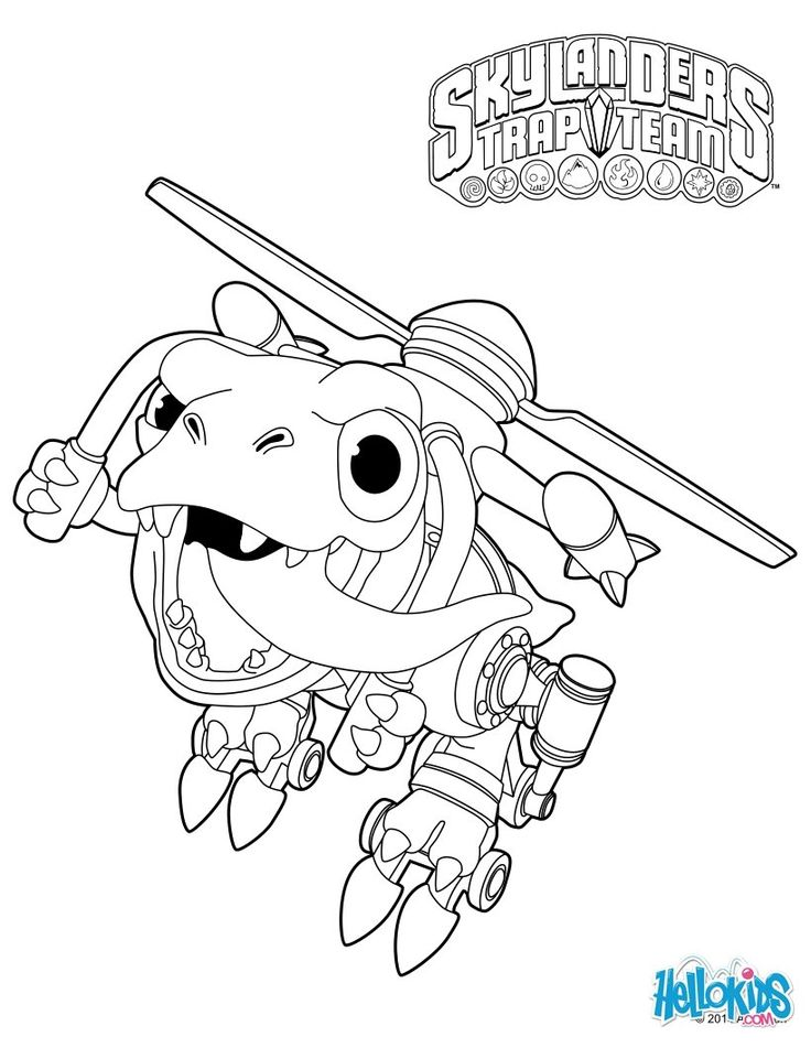 skylanders coloring pages ignitor backpack - photo#36