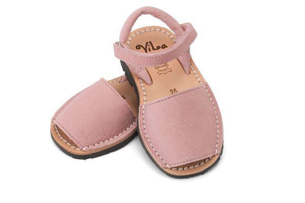 Pink leather sandal