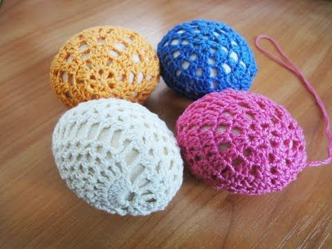 Пасхальные яйца Easter eggs Crochet - YouTube