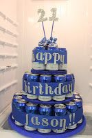 Beer Cans Cake - I can also use soda or canned flavored water!!!