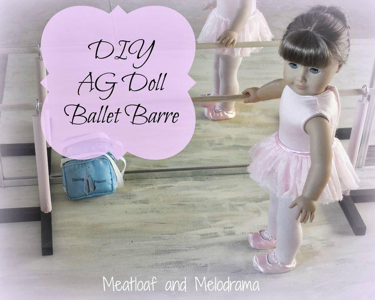 wooden ballet barre for american girl dolls