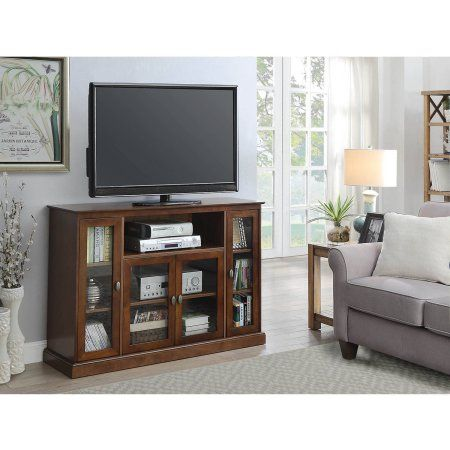 Convenience Concepts Designs2Go Summit Highboy TV Stand, Brown