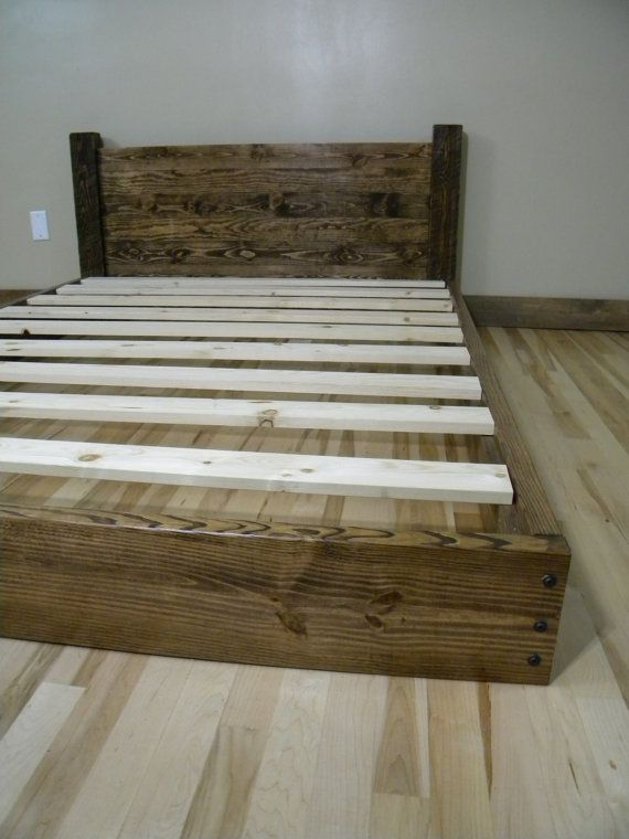 Platform Bed Full Bed Bedframe Wood Bedframe by JNMRusticDesigns