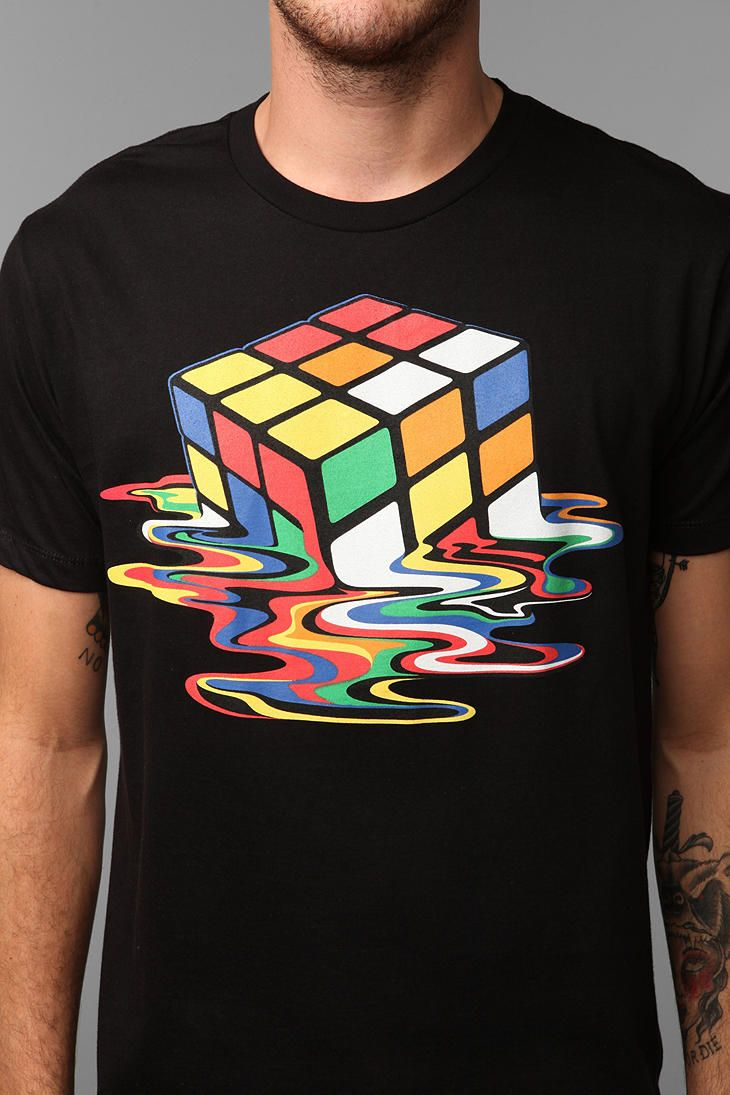 Shirt design buy - Melted Cube Tee