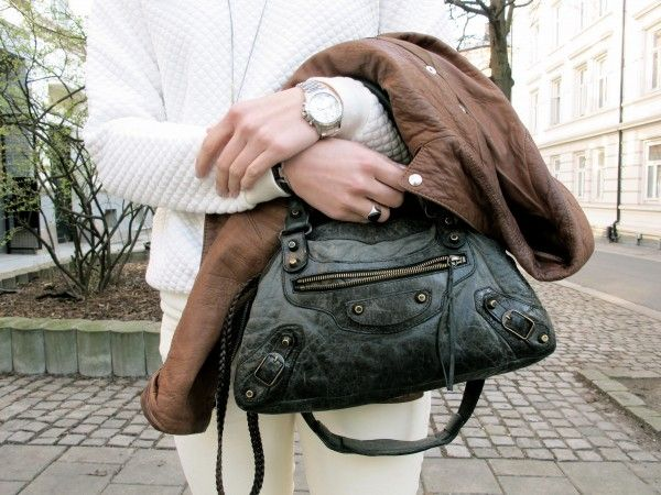 Jacket from Filippa K  -- Purse from Balenciaga -- Watch from Seiko. http://stylescandinavia.com/