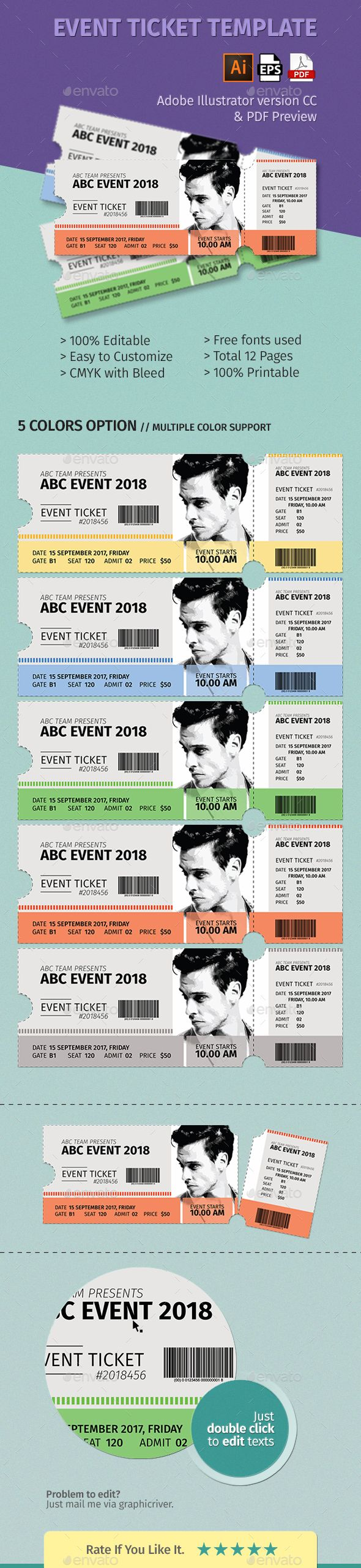 Event Ticket Template Volume 01 - Events Flyers