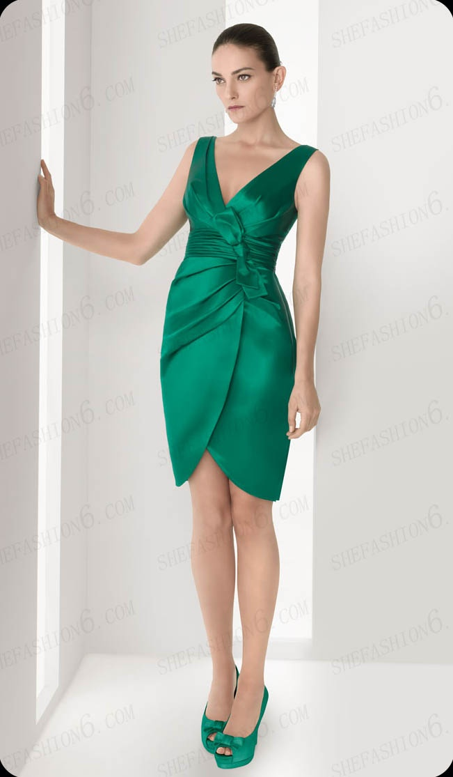 http://www.shefashion6.com  Item 2012S0004   Two Shoulder Knee Length Empair Waist Satin  Party Dress; Real top fabric, competitive price!!!