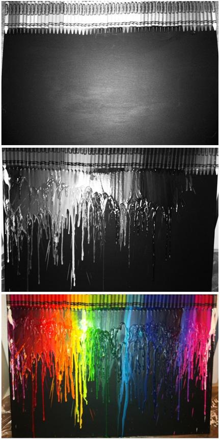 3 steps to melted crayon art. super - 151.9KB