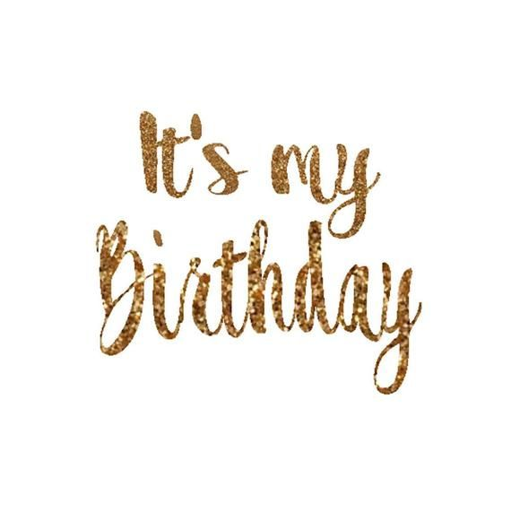Its My Birthday Decal Birthday Girl Iron On Letters Gold Glitter