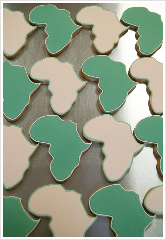 Africa Cookies! I have been wanting an african cookie cutter so bad lately! These would be perfect to make for a fundraising bake sale, or for adoption baby shower!