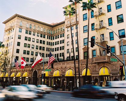 """Beverly Wilshire Hotel in Los Angeles, CA - the """"Pretty Woman"""" hotel."""