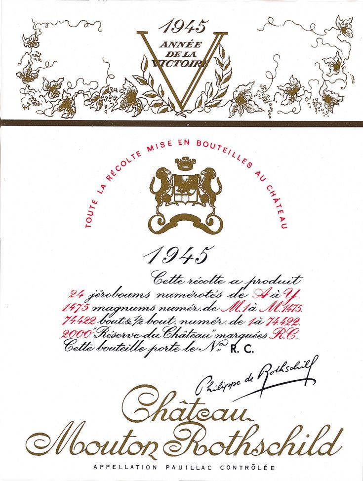 1945  -  65 Années d'étiquetteS commençant par une victoire ...