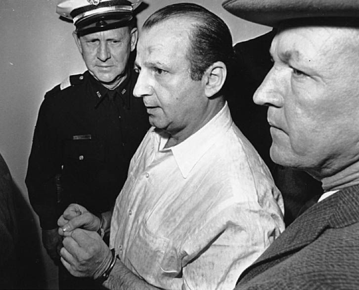 """Jack Ruby arrested. In June 1964, Earl Warren and Gerald Ford personally interviewed him in Dallas County Jail. Ruby pleaded with them to take him to Washington: """"I want to tell the truth and I can't tell it here... My life is in danger... My whole family is in jeopardy."""" They refused his request. www.lberger.ca"""